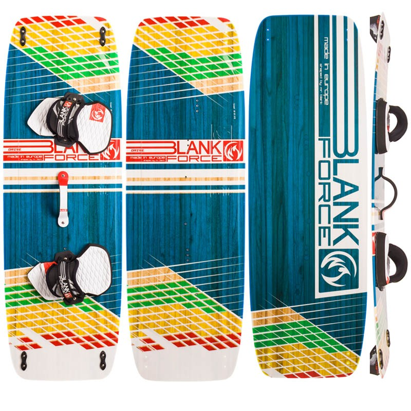 Kiteboarding twintip kiteboard BLANKFORCE DRIVE 139 for lightwind