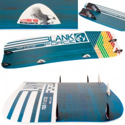 Kiteboarding twintip kiteboard BLANKFORCE DRIVE 159 for ultra lightwind
