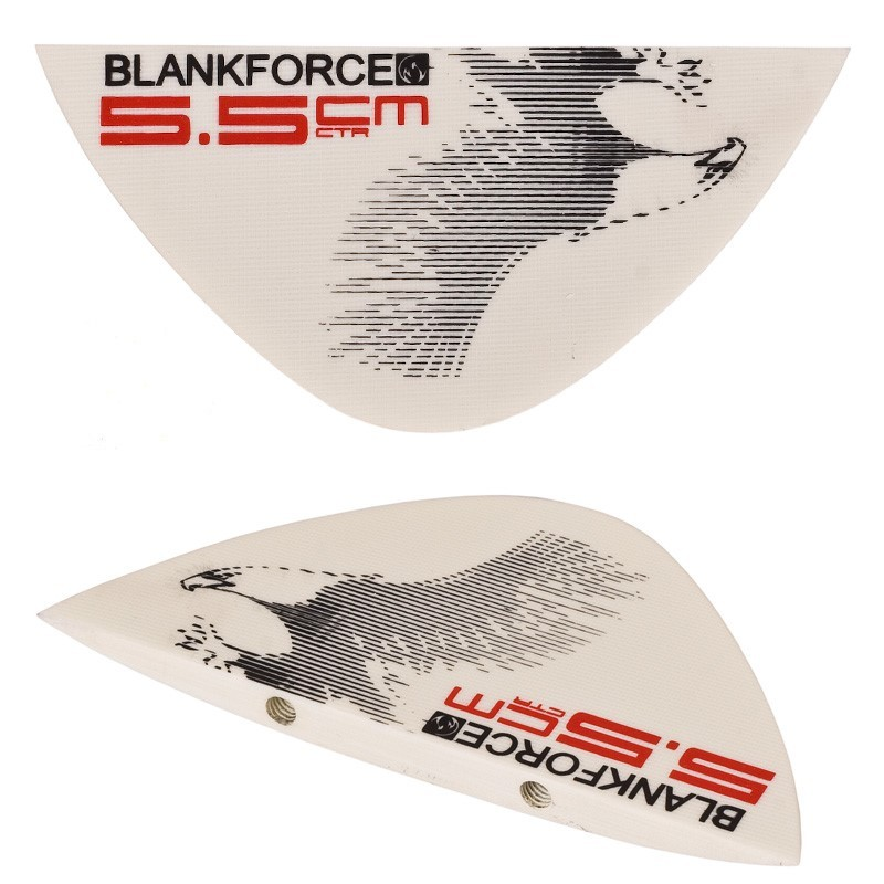 quillas aletas centrales 5.5cm para tabla kitesurf DRIVE 159 light wind BLANKFORCE