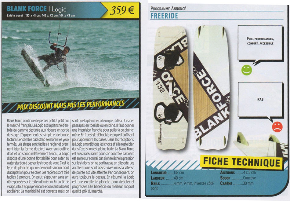 Test Kiteboard LOGIC Freeride 2012 - www.kiteboarder-mag.com